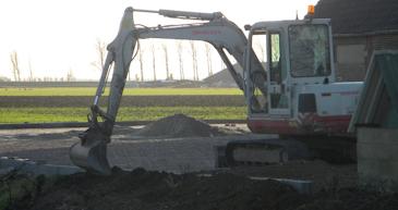 kraanverhuur mini kraan grondverzet grondwerk