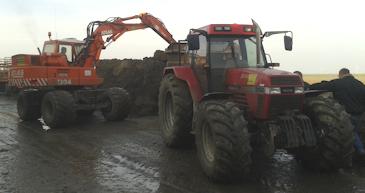 grondverzet grondwerken grondwerk dumper tractor trekker loonbedrijf testers